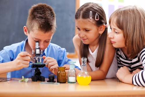 Science classroom from Shutterstock.