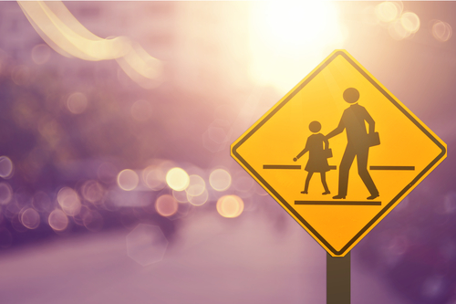 Children crossing sign, Shutterstock.