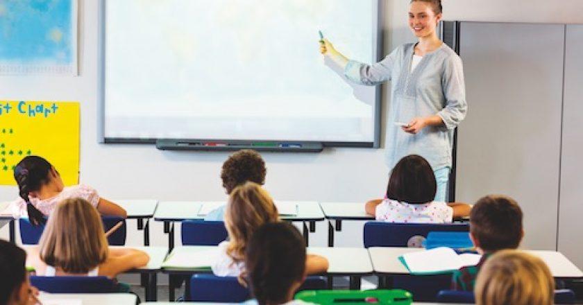 Tony Church presents his insight into interactive displays in schools